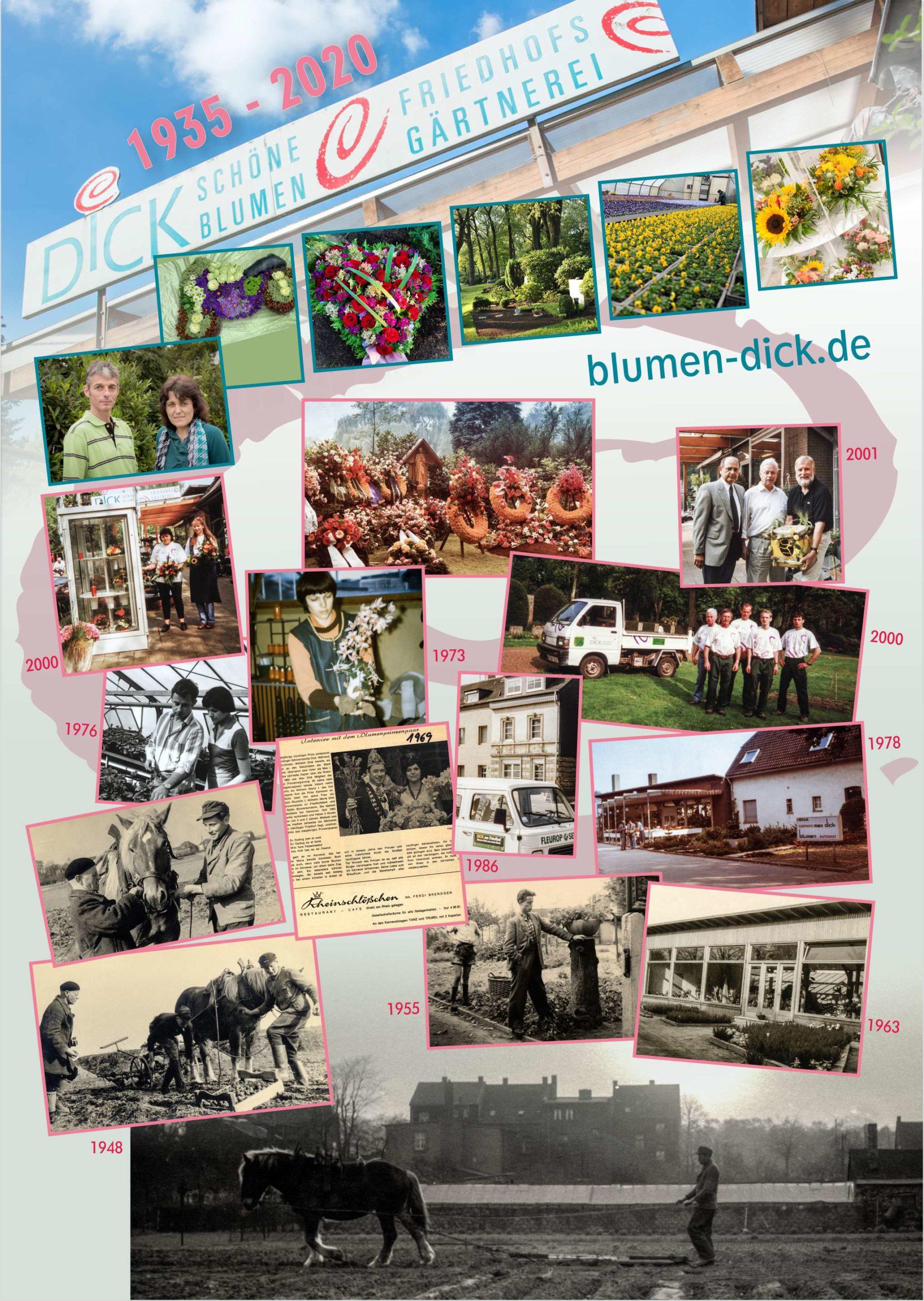 85 Jahre jung: Seit 1935 sind Gärtnerei und Blumengeschäft am Uerdinger Friedhof angesiedelt.